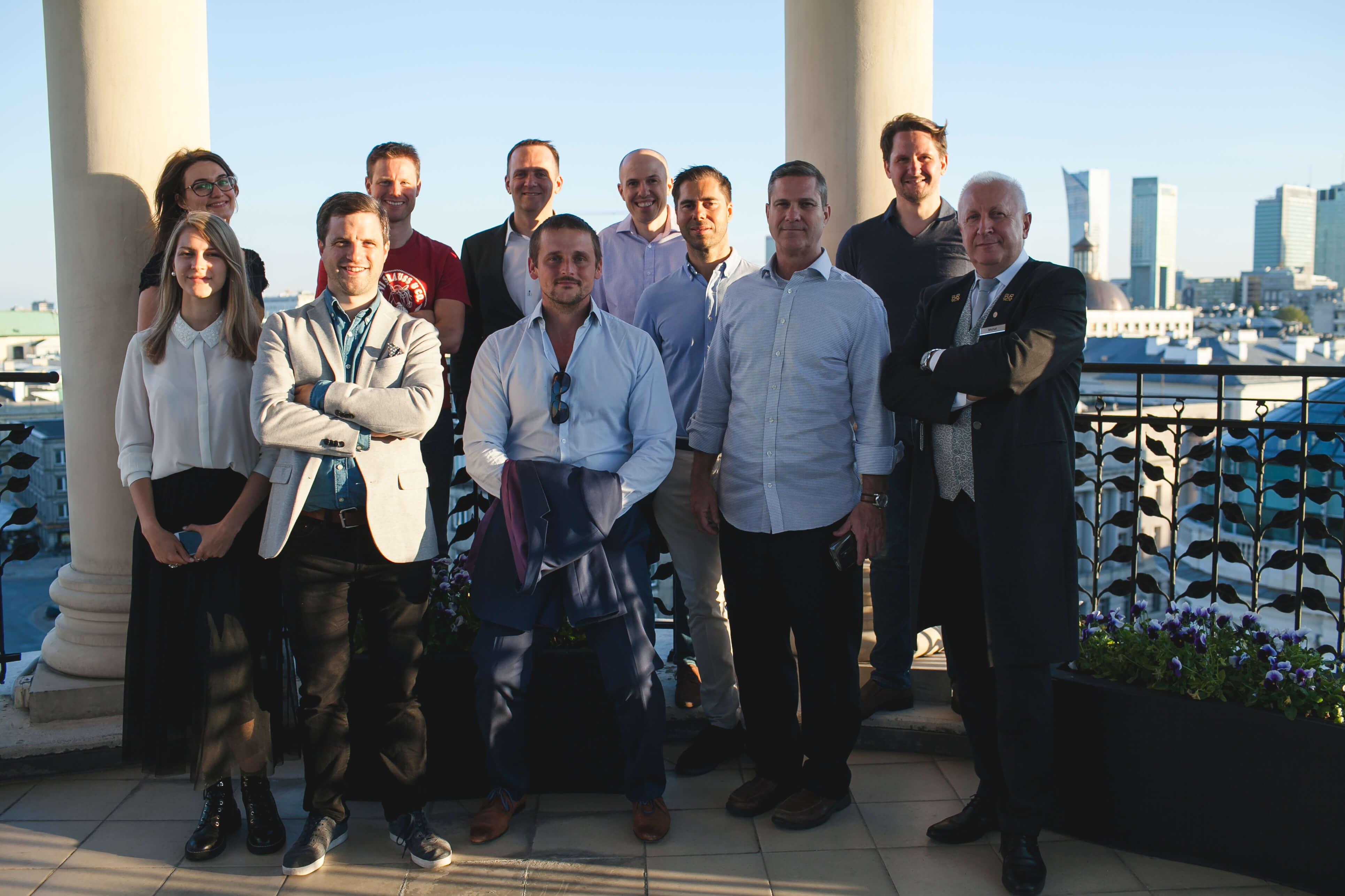 Team on Balcony