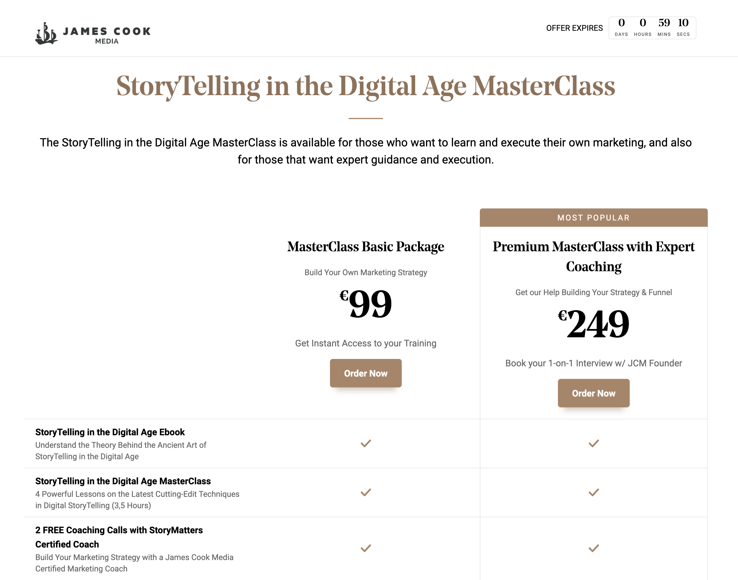 StoryFunnel Countdown Timer View