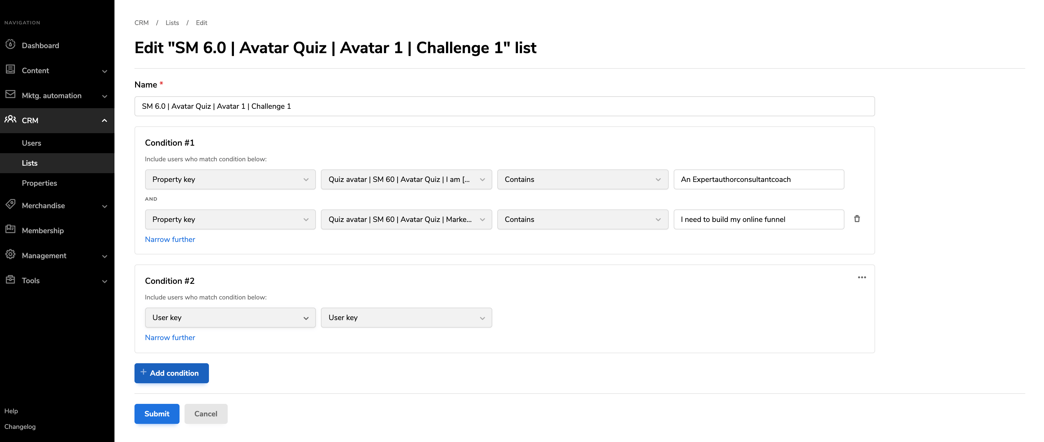 List Building Tool